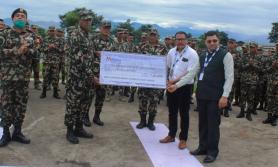 दुर्घटनामा दिवंगत सेनाका परिवारलाई मेगा बैंकको बिमा बापत ७ लाख रुपैँया