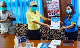 कुमारी बैंकद्वारा एकका लागि एक अभियानमा एक हजार किलो खाद्य सामग्री हस्तान्तरण