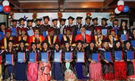 एसिया प्यासिफिक विश्वविद्यालयसँग सम्बद्घता लिएका एलबीईएफका विद्यार्थी दीक्षित