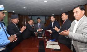 प्रभु बैंक र काठमाडौं महानगरपालिकाबिच सम्झौता
