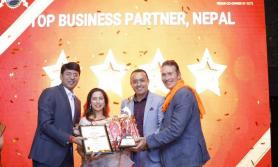 'नेपाल्स नम्बर वान विजनेस पार्टनर'को रुपमा अल्फाबिटा सम्मानित