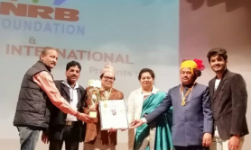 वरिष्ठ सरोद बादक सुदर्शन राजोपाध्याय भारतमा सम्मानित