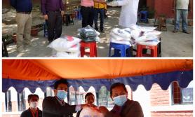 सनराइज बैंकको प्रादेशिक कार्यालय मार्फत पीपीई हस्तान्तरण