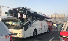 यूएई बस दुर्घटना : १ को मृत्यु, ३ वटा शव पहिचान हुन बाँकी