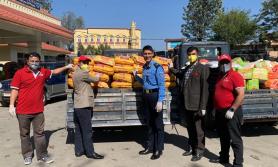एनआईसी एसिया बैंकद्वारा खाद्यान्न सामग्री वितरण