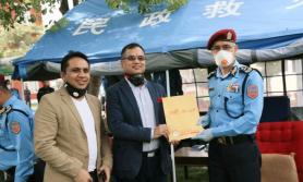 सनराईज बैंकले दियो नेपाल प्रहरीलाई ६५ थान पीपीई