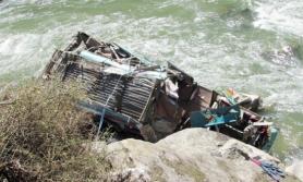 सिमेन्ट बोकेको ट्रक त्रिशूलीमा खस्यो, चालकको मृत्यु
