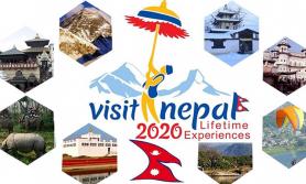नेपाल भ्रमण वर्ष २०२० को प्रचार सार्वजनिक सवारी साधनमा