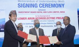 ६७९ मेगावाटको तल्लो अरुण जलविद्युत निर्माणका लागि भारतीय कम्पनीसँग सम्झौता