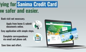 सानिमा बैंकको क्रेडिट कार्ड अनलाईनबाटै आवेदन दिन मिल्ने