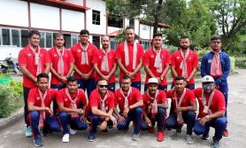 नेपाल र ओमन टी–ट्वान्टी सिरिजअन्तर्गतको अन्तिम खेल खेल्दै
