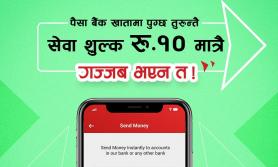 फोनपेबाट डाइरेक्ट बैंकमा २ लाखसम्म कारोबार गर्दा १० रुपैयाँ मात्र शुल्क लाग्ने