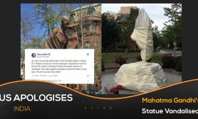 अमेरिकामा रहेको गान्धीको प्रतिमा तोडफोड