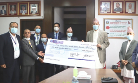 नेपाल बैंकद्वारा कोरोना कोषमा ३ करोड ४६ लाख सहयोग