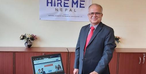 """रोजगार मूलक साइट """"हायर मी नेपाल"""" सञ्चालन"""