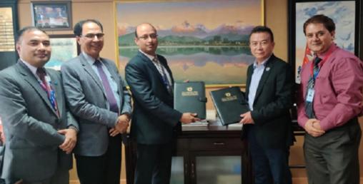नेपाल एसबिआई बैंक र पोखरा फाइनान्सबीच सम्झौता