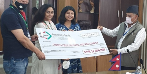 नेपाल बंगलादेश बैंकद्धारा कोरोना कोषमा एक करोड ४५ लाख हस्तान्तरण
