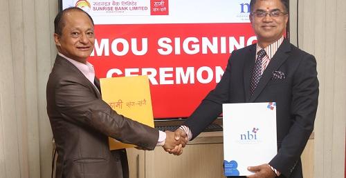 सनराइज बैंक र नेपाल बैंकिङ इन्स्टिच्युटबिच सहकार्य