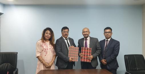 सांग्रिला डेभलपमेन्ट बैंक र नेपाल क्यान्सर हस्पिटल बिच सम्झौता