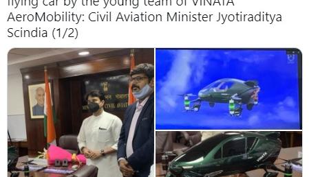 भारतमा एसियाको पहिलो उड्ने कार बन्दै