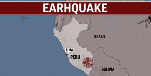 पेरूमा ८म्याग्निच्युडको भूकम्प