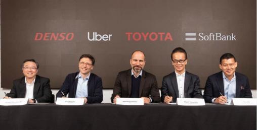 टोयोटा र सफ्टबैंकले उबेरमा एक अर्ब डलर लगानी गर्ने घोषणा