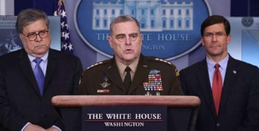 चीनबारे  ट्रम्प र अमेरिकी सेना प्रमुखको कुरा मिलेन