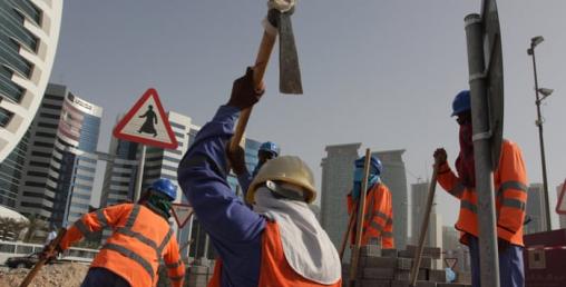 आप्रबासी श्रमिकद्वारा तलब नपाएको भन्दै कतारमा विरोध प्रदर्शन