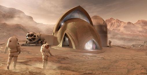 थ्रीडी प्रिन्टरबाट मंगल ग्रहका लागि घर तयार