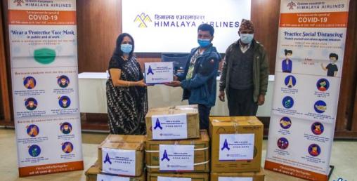 उपत्यकाका विभिन्न अस्पताललाई हिमालय एयरलाइन्सको सहयोग