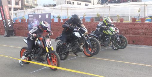 बाइक रेसिङ प्रतियोगिता सम्पन्न
