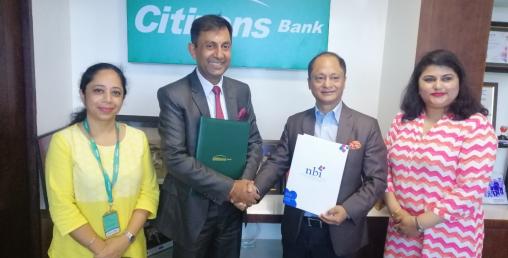 सिटिजन्स बैंक र एन.बि. आईबीच सम्झौता