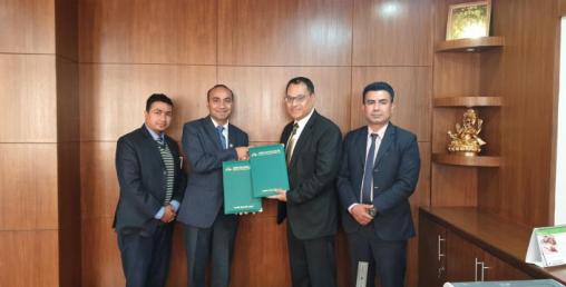 सांग्रिला डेभलपमेन्ट बैंक र सिद्घार्थ बिजनेस ग्रुप अफ हस्पिटालिटीबीच सम्झौता
