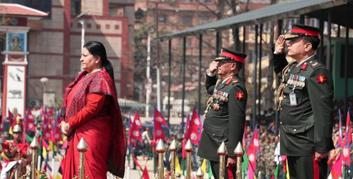 महाशिवरात्रि तथा सेना दिवस–टुँडिखेलमा बढाइँ : समारोहमा राष्ट्रपति सरिक