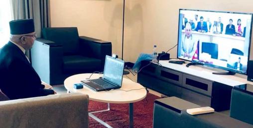 नेपालमा पहिलो पटक भिडियो कन्फेरेन्समार्फत मन्त्रीपरिषद बैठक