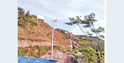 हावाको बिजुलीले गाउँ नै झलमल