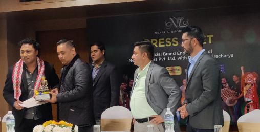 नेपाल लिकर्स र दिपक बज्राचार्यबिच सांगितिक सहकार्य सम्बन्धि सम्झौता