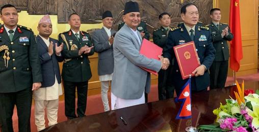 चीनले नेपाली सेनालाई २ अर्ब ४० करोडको सैन्य सामाग्री दिने