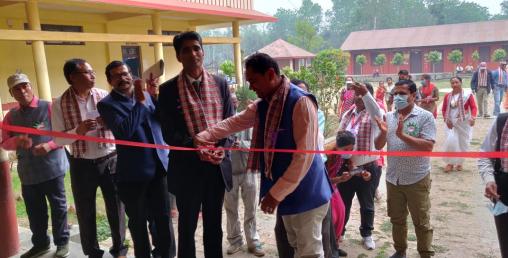 भारतको आर्थिक सहयोगमा राष्ट्र प्राथमिक विद्यालयको नयाँ विद्यालय भवन निर्माण