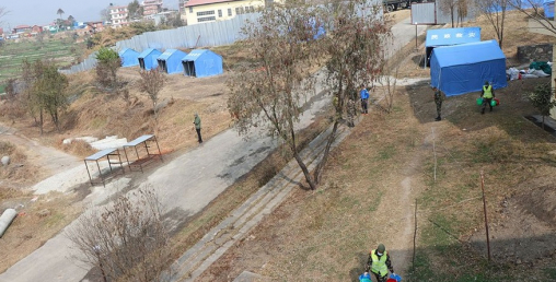 चीनको वुहानबाट ल्याइने विद्यार्थीहरुलाई राख्ने स्थानमा क्वारेन्टाइन निर्माण तयारी पुरा