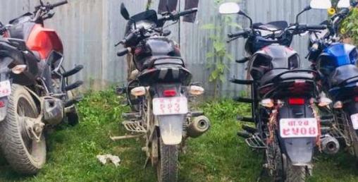 आठ सरकारी मोटरसाइकल नियन्त्रणमा