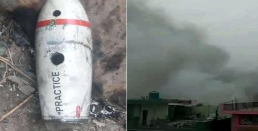 उडिरहेको भारतीय लडाकू विमानबाट  २ ओटा इन्धन ट्याङ्की खसेपछि...
