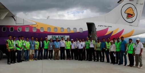 यतीको पाँचौँ एटीआर नयाँ विमान भित्रियो