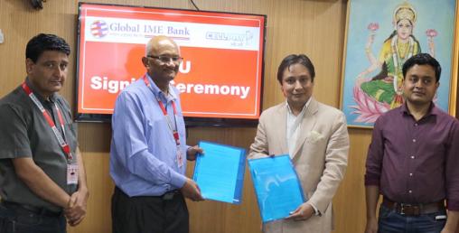 डिजिटल भुक्तानी सेवाका लागि ग्लोबल आईएमई बैंक र सेलपेबीच सहकार्य