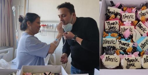 पारिवारिक माहौलले बिरामी मख्ख, डिस्चार्जपछि डाक्टर-नर्सलाई भव्य पार्टी